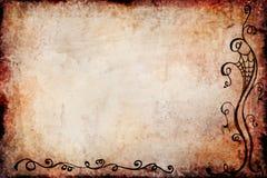 De Achtergrond van Halloween Grunge met Zwart Spinornament Stock Foto