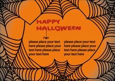 De achtergrond van Halloween met spinneweb 3. Royalty-vrije Stock Afbeeldingen