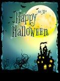 De achtergrond van Halloween met spookhuis Eps 10 Stock Fotografie