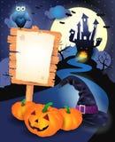 De achtergrond van Halloween met teken Royalty-vrije Stock Afbeelding