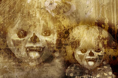 De achtergrond van Halloween van Grunge Stock Afbeelding