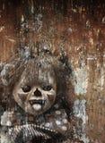 De achtergrond van Halloween van Grunge Stock Afbeeldingen