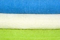 De achtergrond van handdoeken Stock Afbeelding