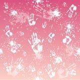 De achtergrond van Handprint Stock Foto