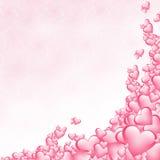 De achtergrond van harten Stock Foto