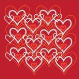 De achtergrond van harten Royalty-vrije Stock Afbeelding
