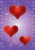 De Achtergrond van harten! Stock Illustratie