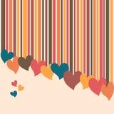 De achtergrond van harten Stock Afbeeldingen