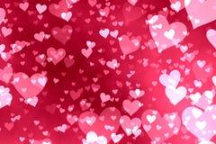 De achtergrond van harten Stock Fotografie