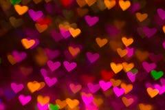 De achtergrond van harten Abstract beeld op de Dag en de liefde van Valentine ` s Stock Afbeelding