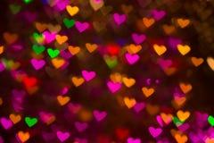 De achtergrond van harten Abstract beeld op de Dag en de liefde van Valentine ` s Royalty-vrije Stock Foto's