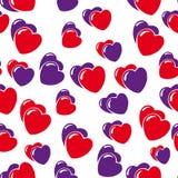 De achtergrond van harten die op wit wordt geïsoleerdn Stock Foto