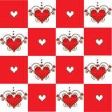De achtergrond van harten. Naadloos. Royalty-vrije Illustratie