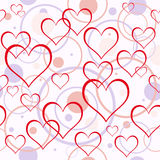 De achtergrond van harten. Naadloos. Stock Foto's