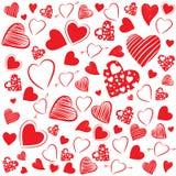 De achtergrond van hartvormen Stock Afbeeldingen