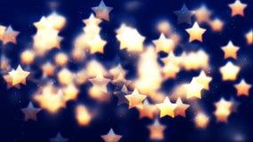 De Achtergrond van HD Loopable met aardige vliegende gouden sterren stock footage