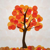 De achtergrond van de herfst Rode en oranje het bladclose-up van de kleurenKlimop stock illustratie