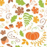 De achtergrond van de herfst Rode en oranje het bladclose-up van de kleurenKlimop Naadloos patroon van de dalende kleurrijke pomp stock illustratie
