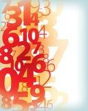 De Achtergrond van het aantallenaantal Stock Afbeeldingen