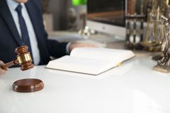 De achtergrond van het advocaatconcept Plaats voor tekst royalty-vrije stock foto