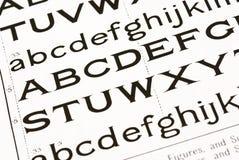De achtergrond van het alfabet Stock Foto