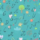 De achtergrond van het alfabet stock illustratie