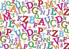 De achtergrond van het alfabet Stock Afbeeldingen