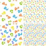 De achtergrond van het alfabet Stock Afbeelding
