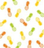 De Achtergrond van het ananaspatroon vector illustratie
