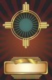 De achtergrond van het art deco Royalty-vrije Stock Foto