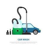 De achtergrond van het autowasseretteweb Royalty-vrije Stock Foto's