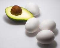 De achtergrond van het avocadoeiwit Stock Afbeelding