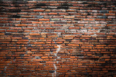 De achtergrond van het bakstenen muurfragment Stock Foto