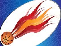 De achtergrond van het basketbal Royalty-vrije Stock Afbeeldingen