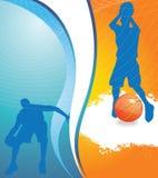 De achtergrond van het basketbal Stock Afbeeldingen