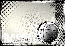 De achtergrond van het basketbal grunge Royalty-vrije Stock Afbeeldingen