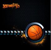 De achtergrond van het basketbal grunge Stock Fotografie