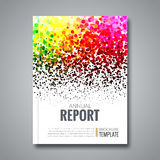 De achtergrond van het bedrijfsrapportontwerp met kleurrijk Stock Afbeeldingen