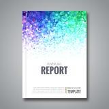 De achtergrond van het bedrijfsrapportontwerp met kleurrijk Royalty-vrije Stock Afbeelding