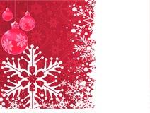 De achtergrond van het behang De kaart van Kerstmis Rode achtergrond Stock Afbeelding