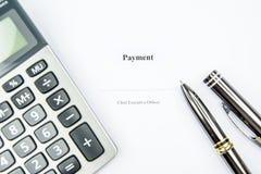 De achtergrond van het betalingsteken Stock Afbeeldingen