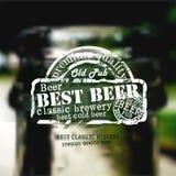 De achtergrond van het bier Stock Foto
