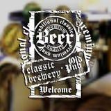 De achtergrond van het bier Stock Afbeelding