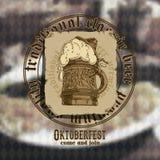 De achtergrond van het bier Royalty-vrije Stock Afbeeldingen