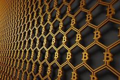 De achtergrond van het Bitcoinsymbool vector illustratie