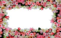 De achtergrond van het bloemkader Stock Foto's