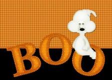 De Achtergrond van het Boe-geroep van het Spook van Halloween Royalty-vrije Stock Afbeelding