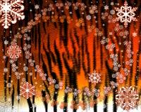 De achtergrond van het bontKerstmis van de tijger vector illustratie
