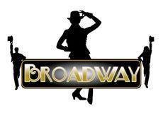 De achtergrond van het Broadwayconcept Royalty-vrije Stock Afbeelding