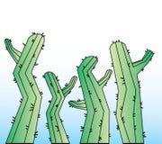 De achtergrond van het cactusbeeldverhaal Royalty-vrije Stock Afbeelding